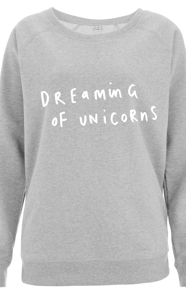 Dreaming of Unicorns Scoop Neck Sweater by Letter Clothing Company