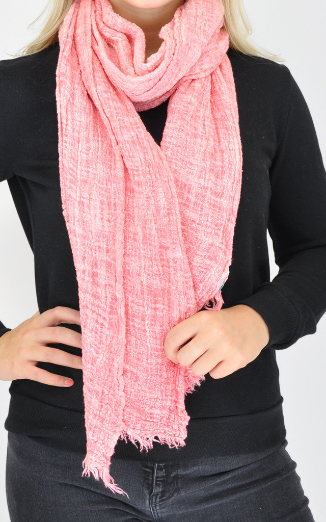 PLAIN WOVEN OVERSIZED PINK SCARF by GOLDKID LONDON