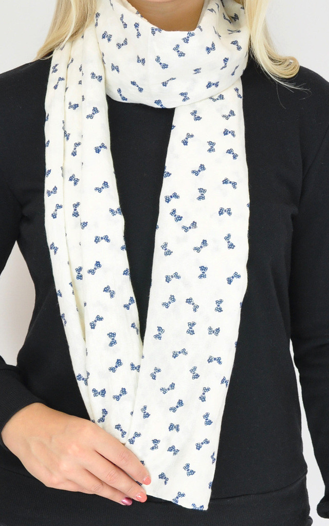 BOW PRINT WOVEN SCARF by GOLDKID LONDON