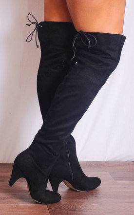 Black Over the Knee Suede Tall Boots by Shoe Closet