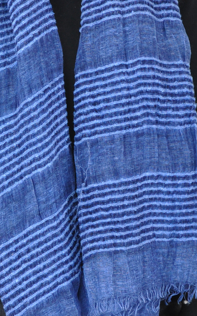 PLAIN WOVEN OVERSIZED SCARF-BLUE by GOLDKID LONDON