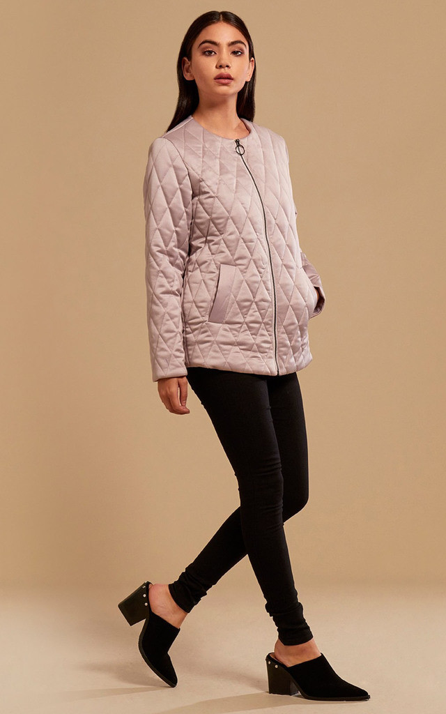 Quilted Luxe Bomber Jacket by Neon Rose