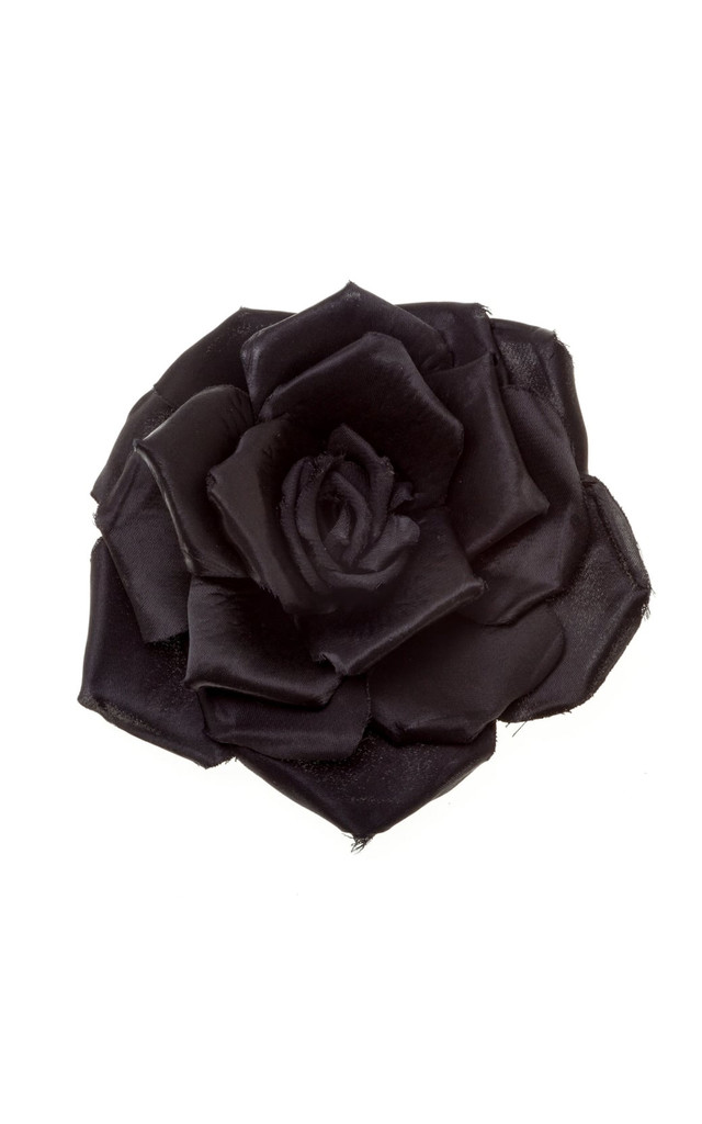 Serena Black Single Rose Corsage by Johnny Loves Rosie