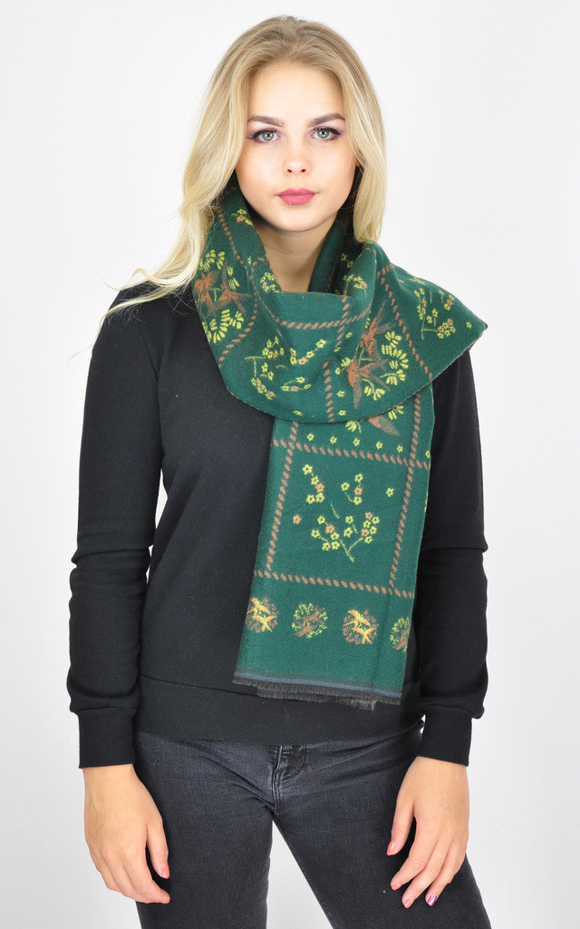 SWALLOW BIRD PRINT WINTER SCARF by GOLDKID LONDON