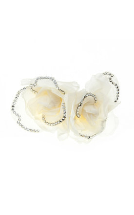 Isla Ivory Sparkle Double Rose Hair Clip by Johnny Loves Rosie