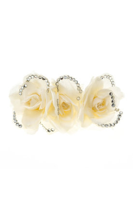 Isla Ivory Sparkle Triple Rose Hair Clip by Johnny Loves Rosie