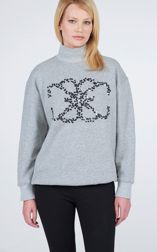 Oversized Embellished Sweatshirt by Lily and Carter London