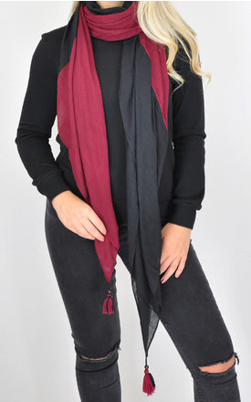 Light scarf in black/red by GOLDKID LONDON