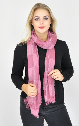 COLOR BLOCK WOVEN FRAYED EDGE SCARF by GOLDKID LONDON