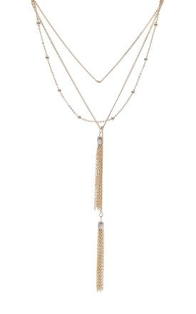 Multi Row Chain Necklace In Gold by DOSE of ROSE