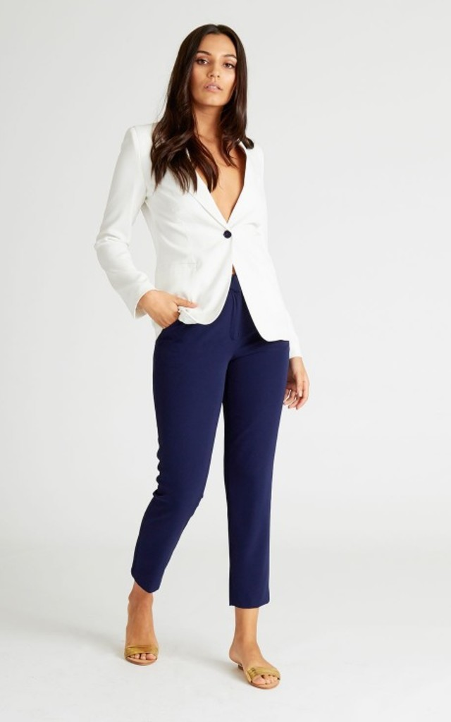 Jerry Navy Tailored Trousers by UNIQUE21