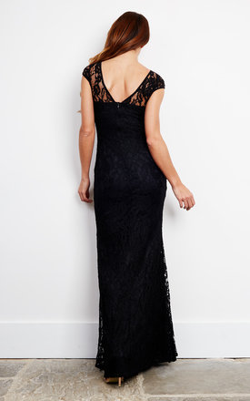Black Corded lace Maxi Dress by D.Anna