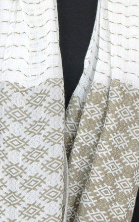 Scarf in white/khaki pattern by GOLDKID LONDON