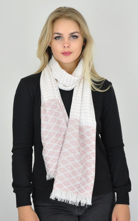 KILIM PATTERNED WOVEN OVERSIZED FRAYED EDGE SCARF by GOLDKID LONDON