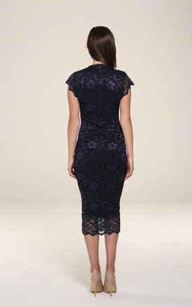Adrianna Navy Midi Dress by Honor Gold