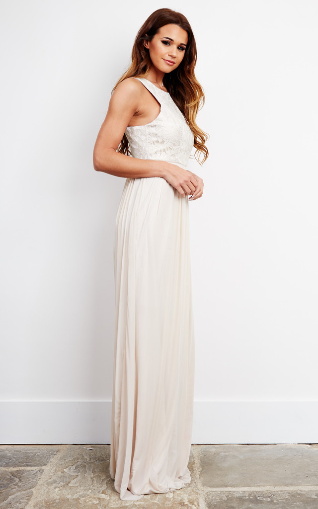 D. Anna maxi dress in nude by D.Anna