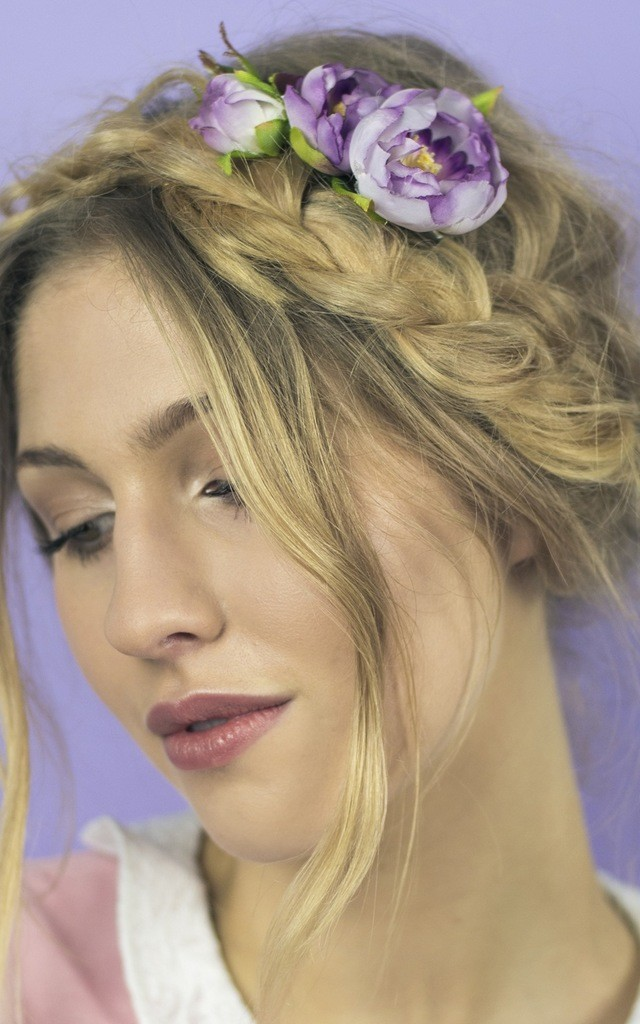 Ranunculus Clip - Dusky Purple by Crown and Glory