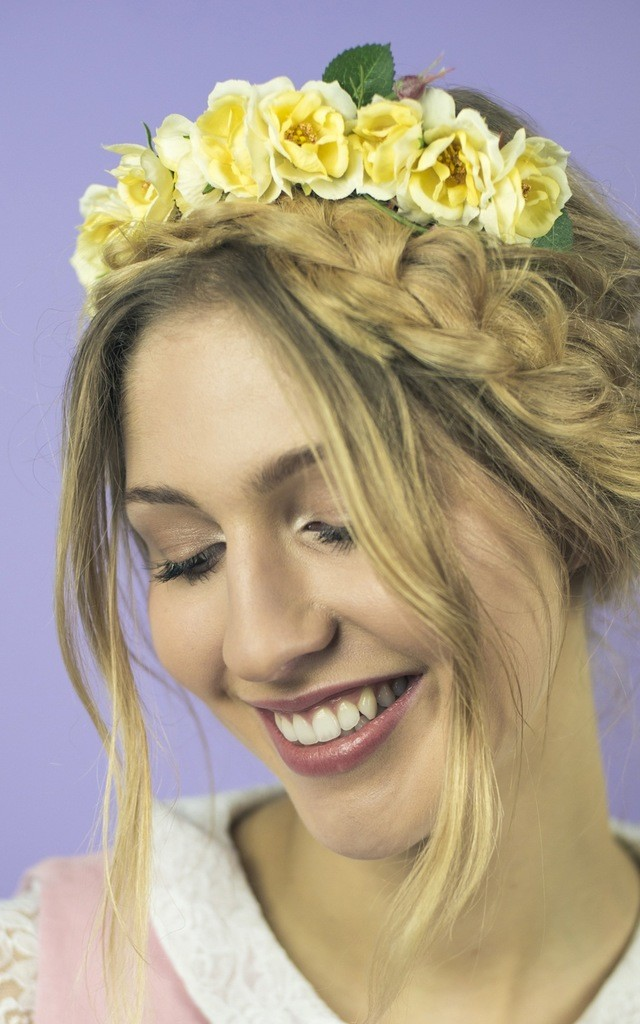 Wild Rose Headband - Yellow by Crown and Glory