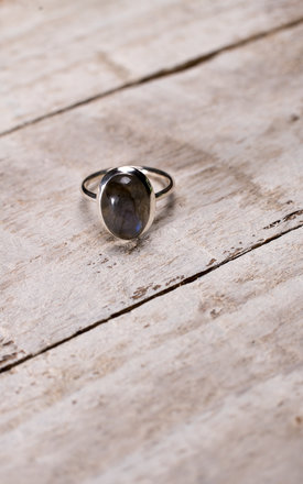 Northern Lights Sterling Silver & Labradorite Ring by BONEARROW