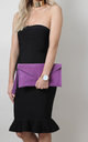 Light Purple Suede Envelope Clutch Bag by Pretty Lavish