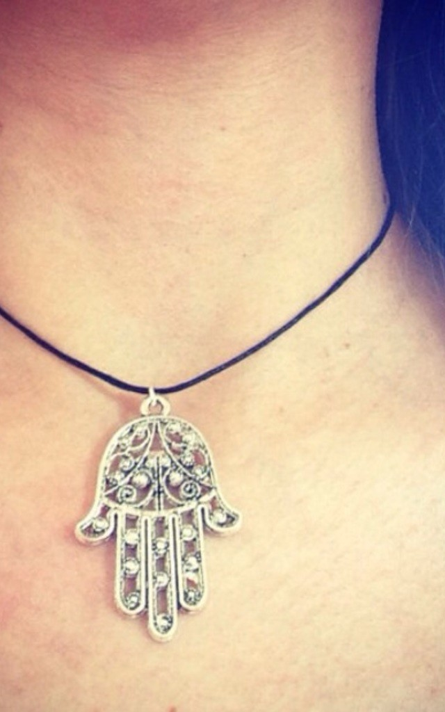 Large Hamsa Choker by Diamond in The Sky