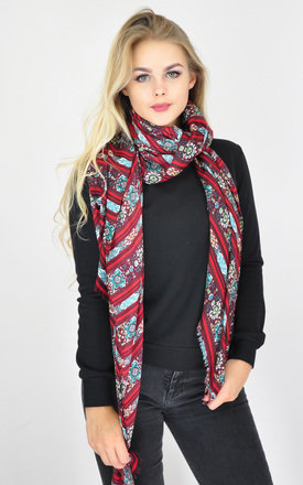 FLORAL PRINT FRAYED EDGE SCARF by GOLDKID LONDON