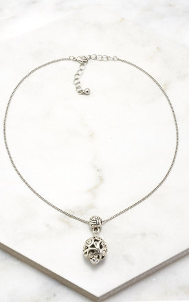 Silver Decorated Charm Choker by DOSE of ROSE