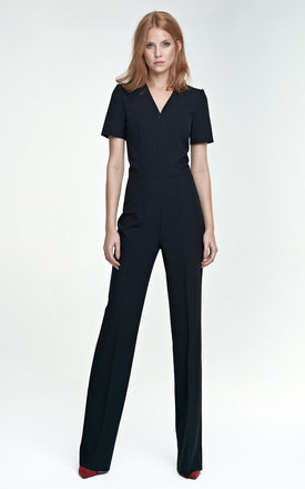 Short sleeve Jumpsuit black by so.Nife