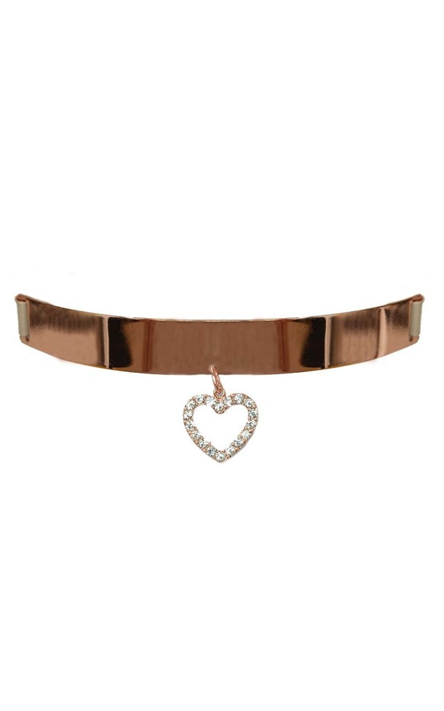 Rose Gold Heart Outline Choker by Johnny Loves Rosie