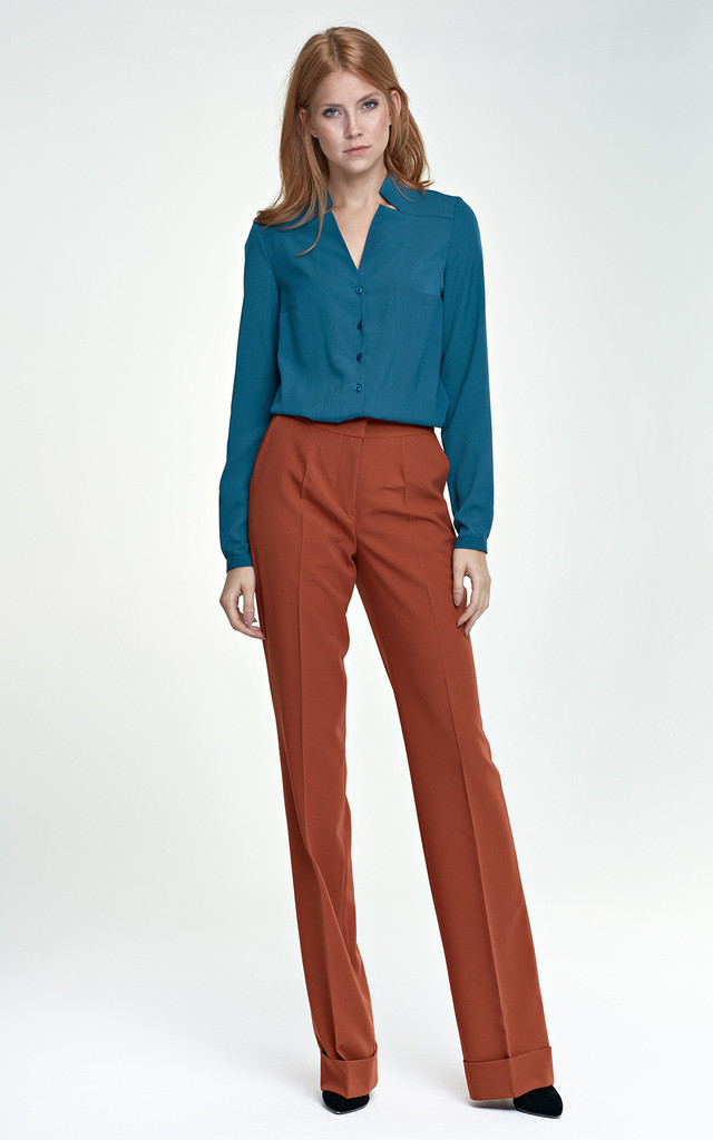 Victoria Straight Leg Trouser In Orange by so.Nife