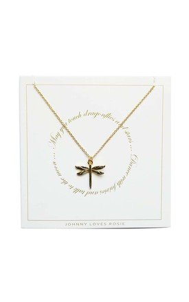 Dragonfly Gift Card Necklace by Johnny Loves Rosie