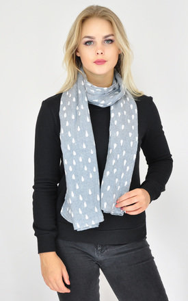 Lightweight Scarf in Light Blue Raindrop Print by GOLDKID LONDON