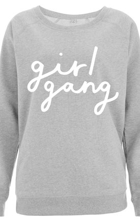 Girl Gang Scoop Neck Sweater by Letter Clothing Company