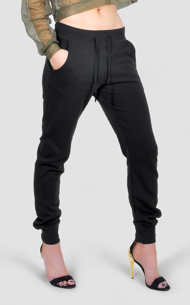 Athleisure off shoulder slimfit tracksuit by The Left Bank