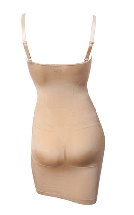 Nude Bodycon Body Shaping Slip Dress Seam Free (Wear-Your-Own-Bra) Spring Summer 2018 by Queen of the Crop