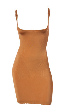 New Season 2018 Slip Dress Fitted Seamless Body Shaping Nude Brown (Wear-Your-Own-Bra) by Queen of the Crop