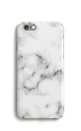 White Marble Print Phone Case by Harper & Blake