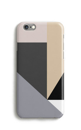 Geometric Colour Block Mobile Phone Case   Grey Peach Pink by Harper & Blake Product photo