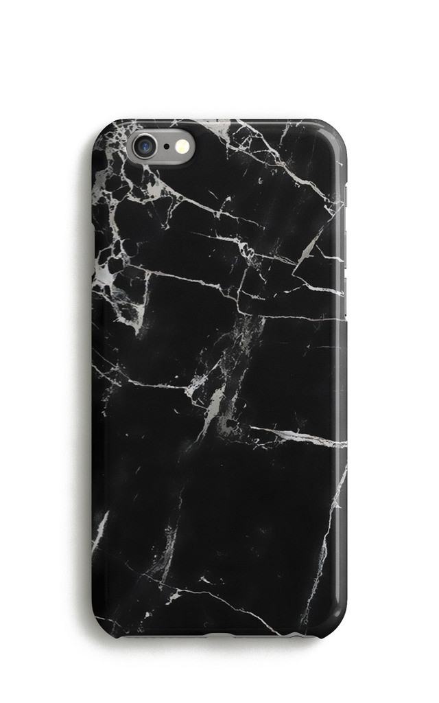 Black Marble Print Phone Case by Harper & Blake