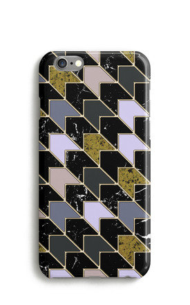 Marble Chevron Print Mobile Phone Case Grey Black Pink by Harper & Blake Product photo