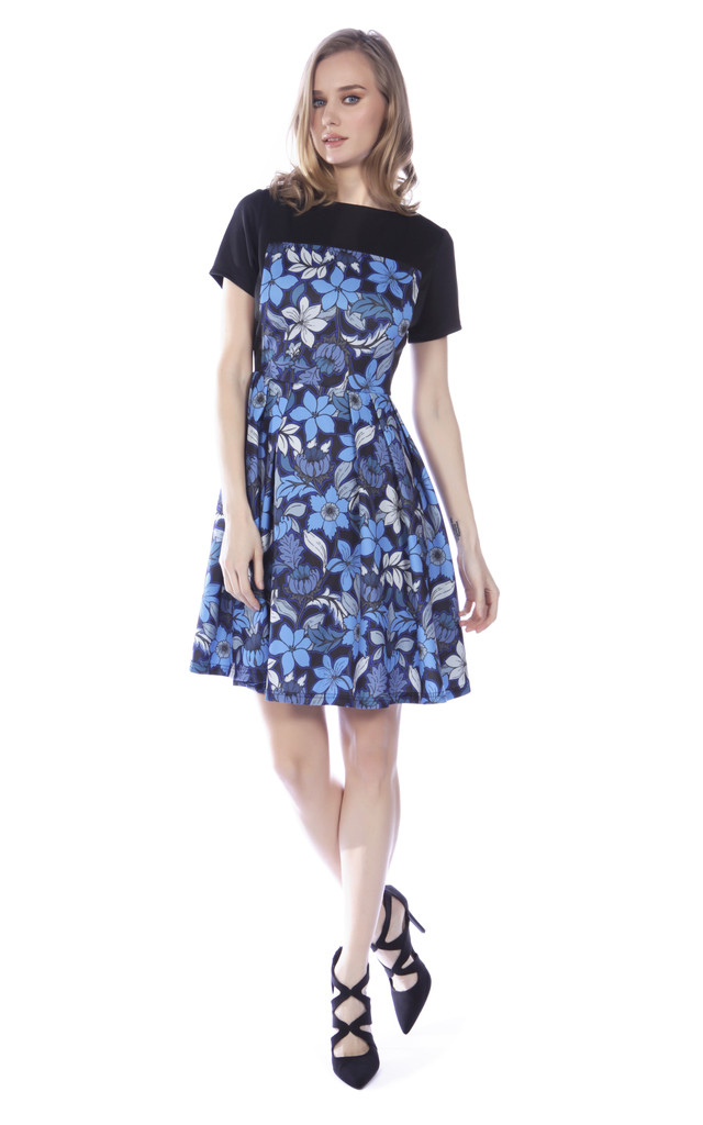 Floral Panel Dress by Cutie London