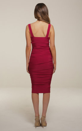 Gabriella Berry Midi Dress by Honor Gold
