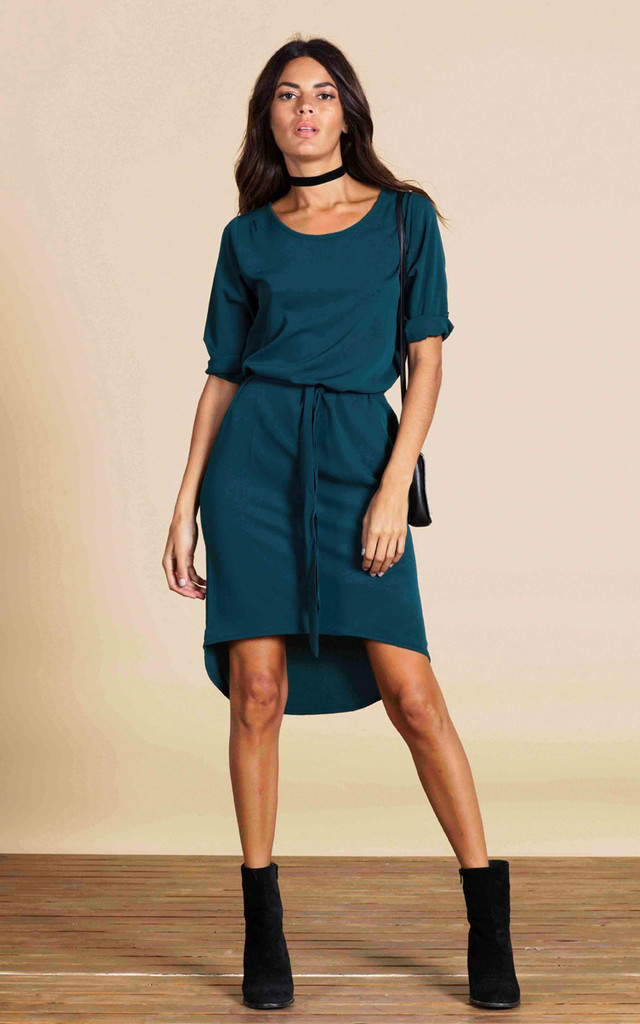 Chiquita Dress in Pine Green image