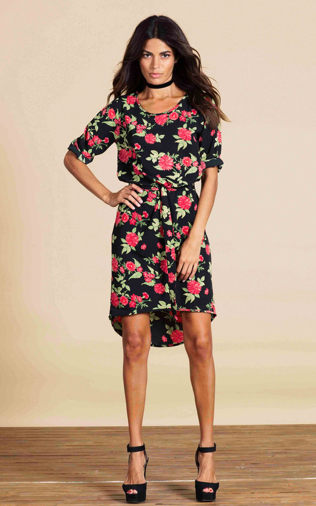 Chiquita Dress in Red Floret image