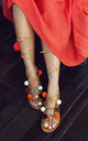 Kerala leather pompom sandals by What Frankie Did Next