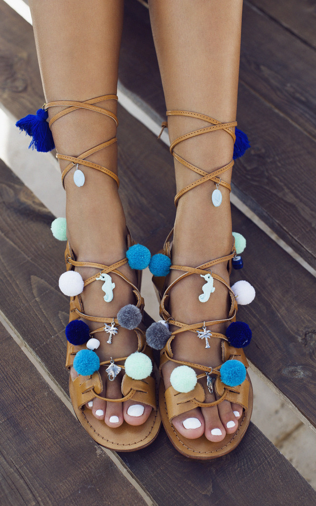 Santorini Leather Sandals by What Frankie Did Next