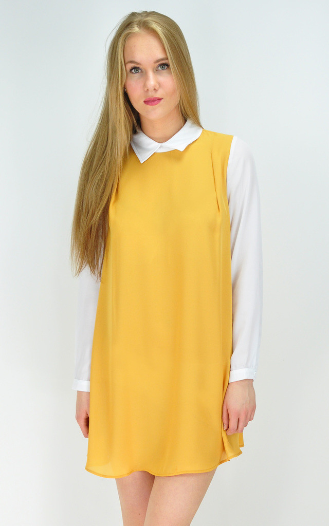 MUSTARD SHIRT DRESS by GOLDKID LONDON