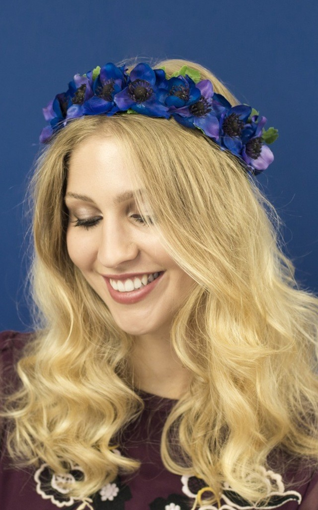 Anemone Floral Crown - Indigo by Crown and Glory