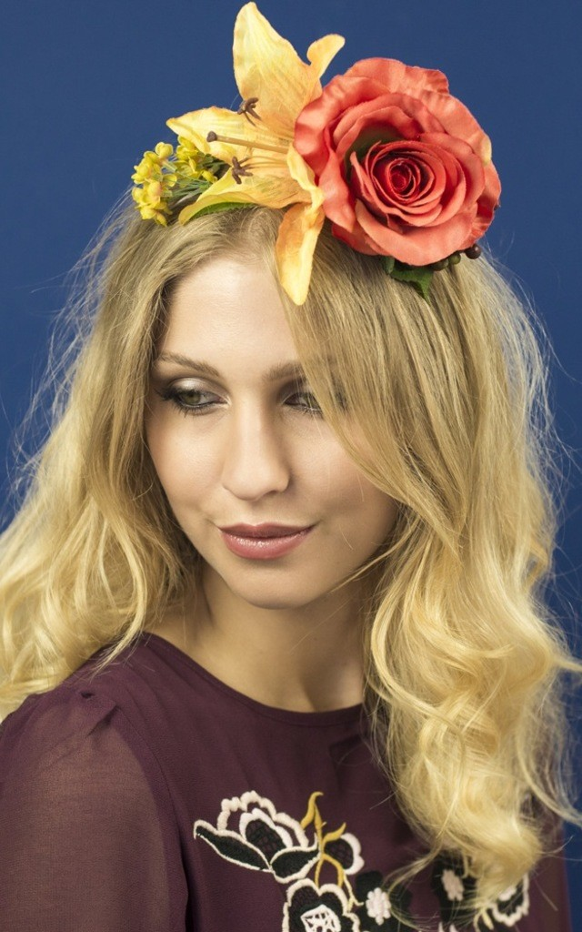 Oversized Rococo Headband in Rust by Crown and Glory