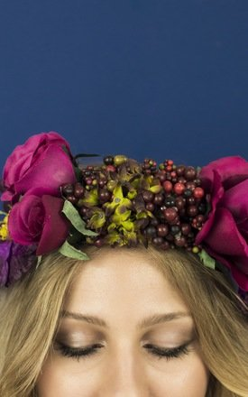 Oversized Rococo Crown in Berry by Crown and Glory